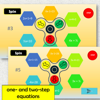 One- and Two-Step Equations Fidget Spinner Game (Digital Fidget Spinner!)