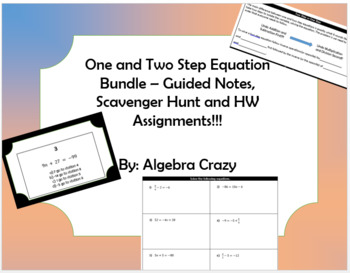 One and Two Step Equations Guided Notes and HW Bundle
