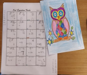 One and Two Step Equations- Owl Coloring