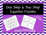 One and Two Step Equations Puzzles