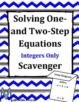 One- and Two-Step Equations Scavenger Hunt Game