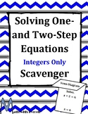 Solving One- and Two-Step Equations with Integers Scavenger Hunt Game
