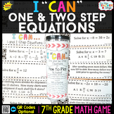 7th Grade One & Two Step Equations Game 7th Grade Math Rev