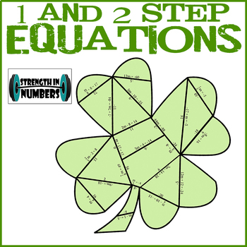 One and Two Step Equations St. Patrick's Day Shamrock Puzzle
