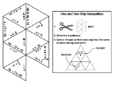One and Two Step Inequalities Game: Math Tarsia Puzzle