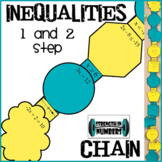 One and Two Step Inequalities Paper Chain for Display