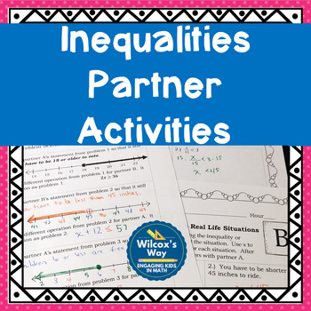 One and Two Step Inequalities Partner Activities