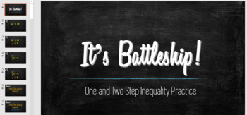 One and Two Step Inequalities Practice - BATTLESHIP! - Fun and Engaging!