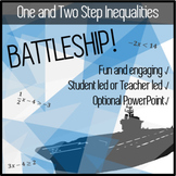 One and Two Step Inequalities Practice - BATTLESHIP! - Fun