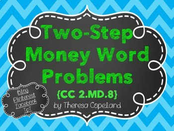 One- and Two-Step Money Word Problems BUNDLE {CC 2.MD.8}