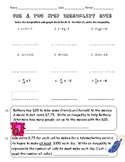 One and Two Step Solving, Writing, and Graphing Inequality Quiz