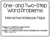 One- and Two-Step Word Problems (Interactive Notebook Flaps)