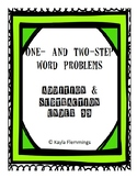 One- and Two-Step Word Problems Packet with all types of q