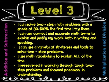One- and Two-Step Word Problems Rubric and Posters 3.OA.D.8