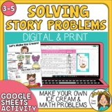 One and Two Step Word Problems  - Make Baggie Ice Cream di