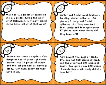 One and Two-step Addition and Subtraction Word Problems within 1,000