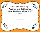 One and Two-step Addition and Subtraction Word Problems wi