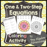 Solving Equations Activity {Two Step Equations Coloring} {