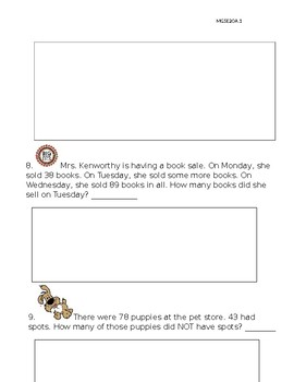 One and two step word problems