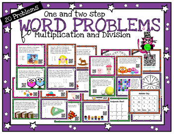 One and two step word problems for multiplication, divisio
