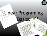 One day lesson on Linear Programming with Power point for Algebra 2