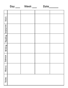 One day per page planner page