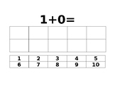One digit addition with ten frame