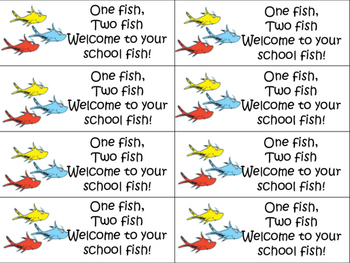 One fish, two fish GOLDFISH tags