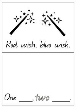 One fish, two fish, red fish, blue fish themed Sight Word Reader - Dr Seuss
