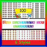 One hundredth Day stickers- (included are 6 styles of stickers)