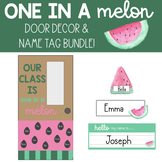 One in a Melon - Editable Door Decor & Name Tag Bundle