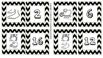 One is a Snail Ten is a Crab Matching Game