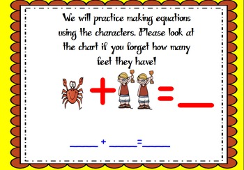 One is a Snail ten is a Crab- A Math Smart Board Activity