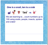 One is a snail, ten is a crab IWB Activity