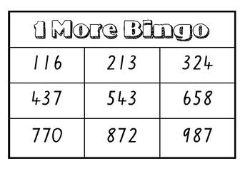 One more Bingo (3 Digit)