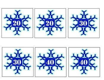 Ten more, Ten less - Winter theme