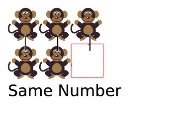 One more few same number math word cards