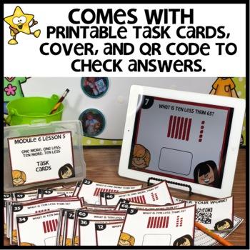 One more/less Ten more/less | DIGITAL TASK CARDS | PRINTABLE TASK CARDS