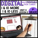 One more/less Ten more/less | DIGITAL TASK CARDS | PRINTAB