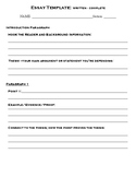 One of Three Essay Templates: Complete