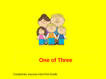 One of Three (Unit 6) Journeys Kindergarten Common Core Reading Series