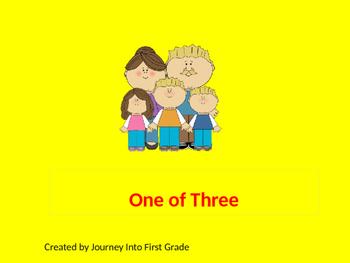 One of Three (Unit 6) Journeys Kindergarten Common Core Re