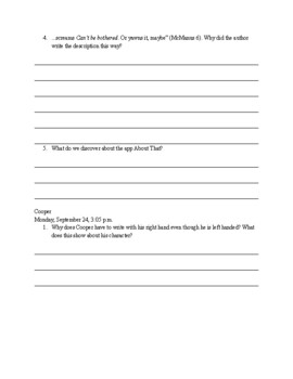 One of Us is Lying- Chapter-by-Chapter Comprehension Questions