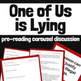 One of Us is Lying Pre-Reading Carousel Discussion