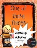 One of these things... - A Warm-up Math Activity