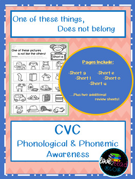 One of these things does not belong...CVC Short Vowels