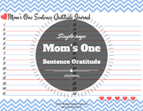 One sentence lined printable gratitude journal with hearts for moms