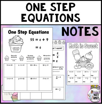 One Step Equation Notes & Color by Number