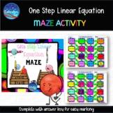 One step Linear Equation maze.