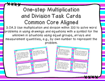One-step Multiplication and Division Task Cards